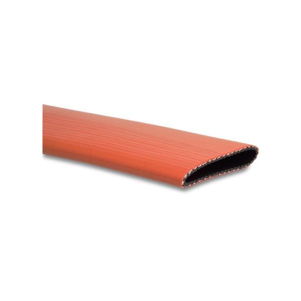 Red heavy duty PVC layflat - full coil