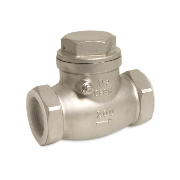 Stainless 316 Spring loaded swing check valve, type 909