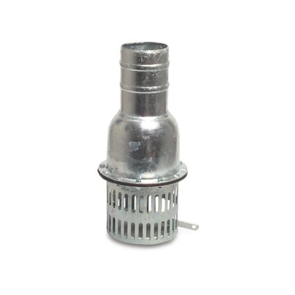 Galvanized steel foot valve