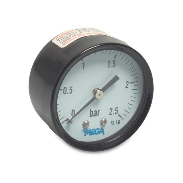 Pressure Gauges - 63mm - Rear mount - Dry