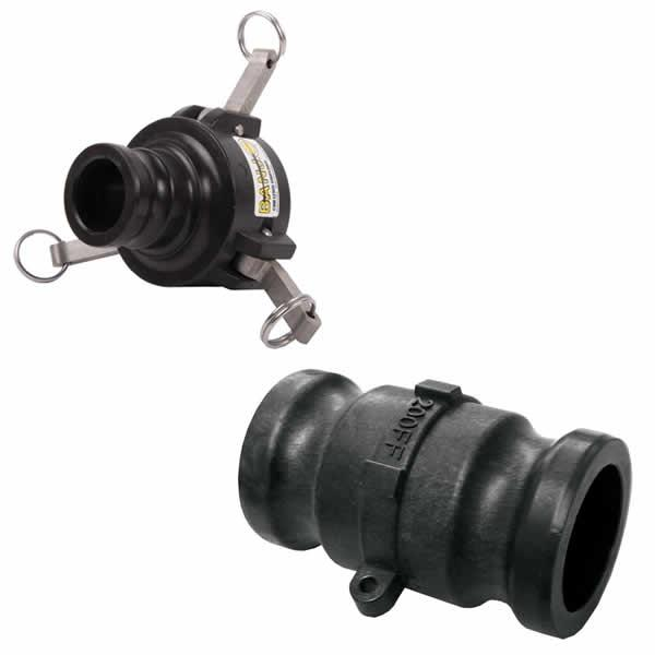 Banjo Polypropylene camlock fittings - Reducing couplers and adaptors