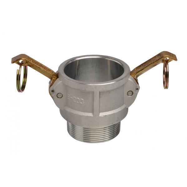 Aluminium Snaplock fittings - Male threaded coupler part B