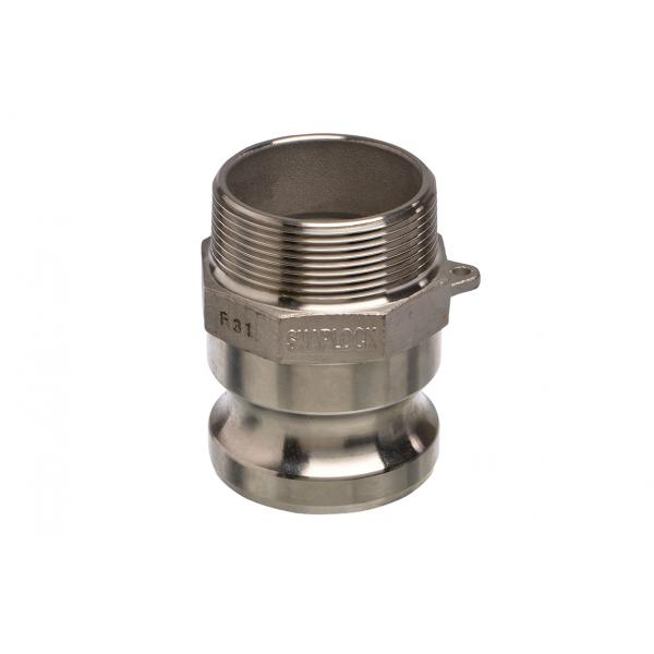 Aluminium Snaplock fittings - Male threaded adaptor part F
