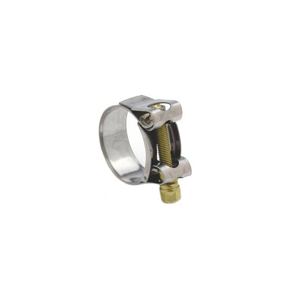 Mikalor Supra Ferritic bolt clamp (W2) - Stainless band with BZP bolt