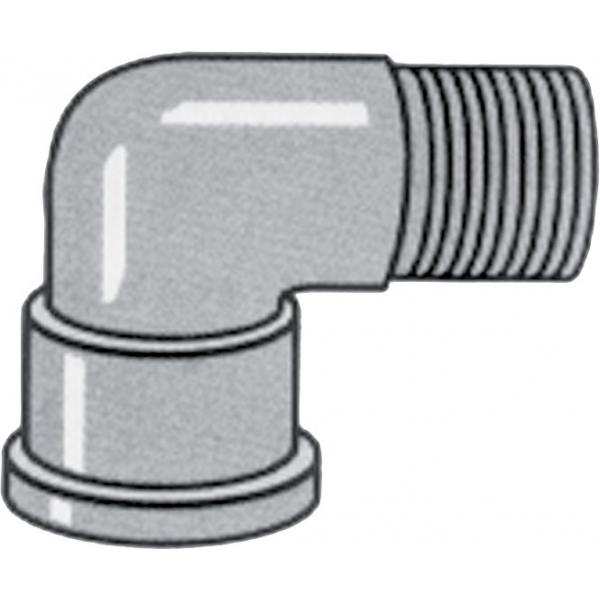 Nylon threaded 90 degree street elbow (male - female)
