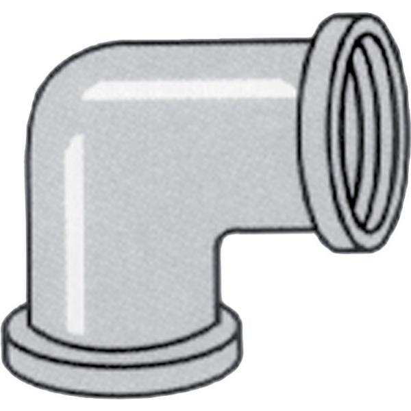 Nylon threaded 90 degree elbow (female - female)