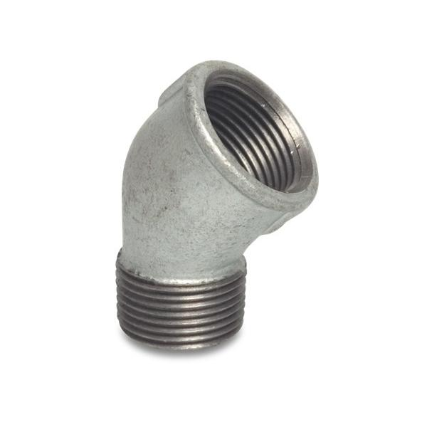 Galvanized Steel Nr. 121 - Elbow 45 Degree