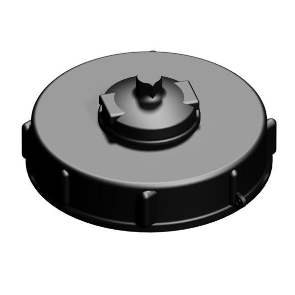 """150mm S160X7 (6"""") IBC Fill Cap /cw 2"""" Vent"""