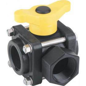 Polypropylene 3 Way Manual Ball Valves