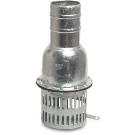 Galvanized steel foot valve, with hose tail