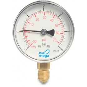 Mega Pressure Gauge - 63mm - Bottom mount - Dry