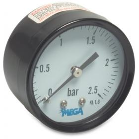 Mega Pressure Gauge - 63mm - Rear mount - Dry