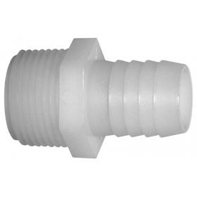 Nylon threaded hose barb (male)