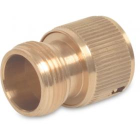 Hoselock type male thread x female click (Brass)