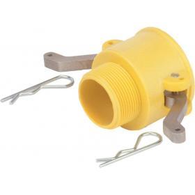 Nylon camlock fittings - Male threaded coupler part B