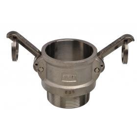 Stainless Steel Snaplock fittings - Male threaded coupler part B