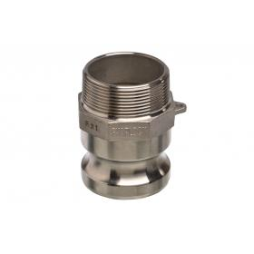 Stainless Steel Snaplock fittings - Male threaded adaptor part F