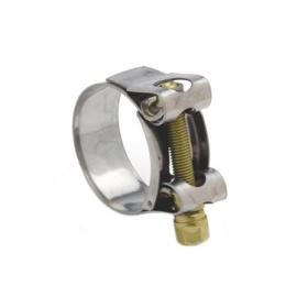Mikalor Supra Ferritic Hose Clamp (W2) - Stainless band with BZP bolt
