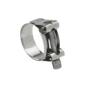 Mikalor Supra 304 Stainless bolt clamp - Stainless band / bolt