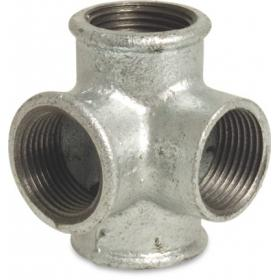 Galvanized Steel Nr. 223 - Elbow with 2 laterals