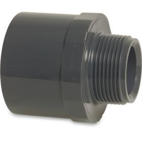 PVC adaptor spigot/socket with male thread