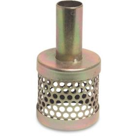 Tin can strainer with hosetail